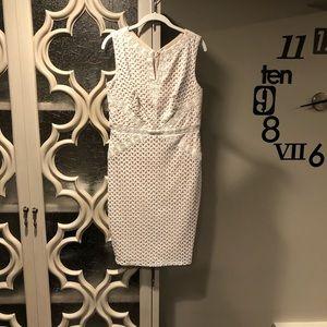 Signature by Sangria Cream Lace Dress